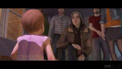 Ellen Page et al. looking at the camera