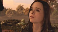 Ellen Page who is smiling and looking at the camera