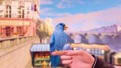 a person holding a bird