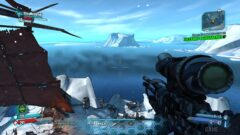 a screenshot of a video game in the snow