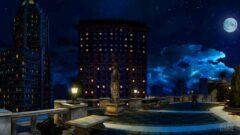 a city at night