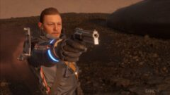 Norman Reedus holding a gun