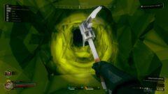 a close up of a green bag