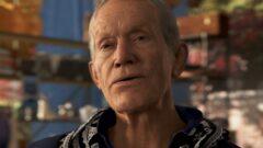 a close up of Lance Henriksen