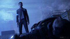 Bryan Dechart that is standing in the snow