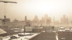 a vintage photo of a city