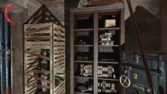 a shelf in a room