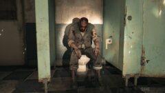 a man standing next to a door