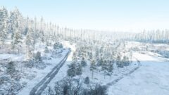 a snow covered slope