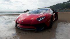 a car parked on a beach