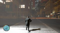 a man walking down the street