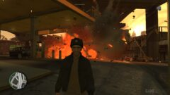 Niko Bellic standing in front of a building
