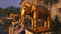 a statue of an elephant