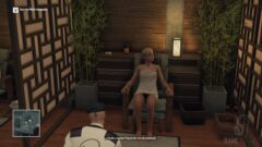a person sitting on a chair in a room