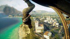 a man doing a trick on a mountain