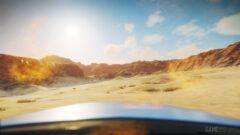 a close up of a desert