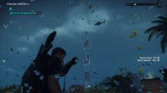 a man flying through the air