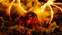 a close up of a fire