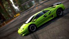 a close up of a green car