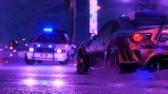 a car at night
