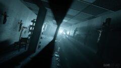 a light in a dark room