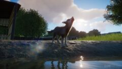 a horse standing in front of a body of water
