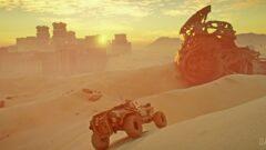 a person in a desert