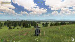 a man in a green field