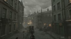 an old photo of a city street