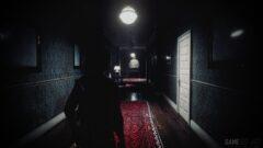 a train that is sitting in a dark room