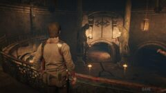 a man standing next to a fireplace