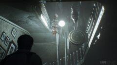 a person in a dark room
