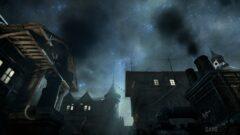 a dark city street