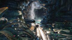 a large waterfall