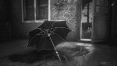 an open umbrella