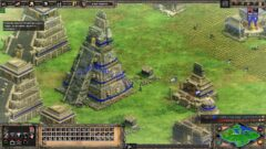 a screenshot of a video game on a field