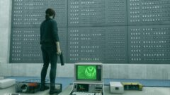 a person standing in front of a computer