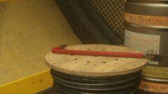 a close up of a barrel