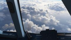 clouds in a blue cloudy sky