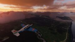 a airplane that is on top of a mountain