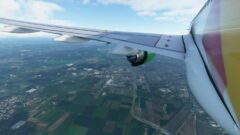 a view of an airplane