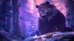 a bear that is standing in the snow