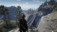 a man riding a horse on a rock
